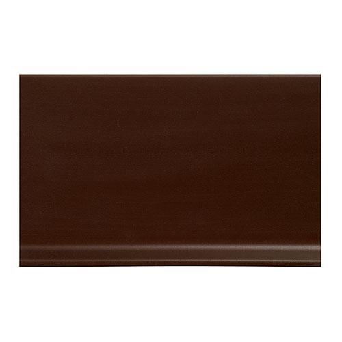 Plinthe à gorge en vinyle 4 po, brun