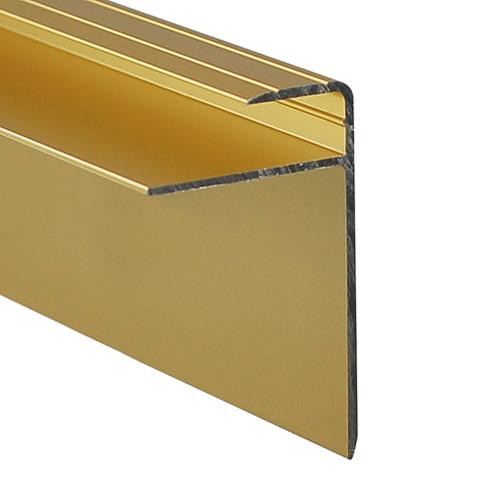 Nez d'escalier or satiné pour plancher stratifié