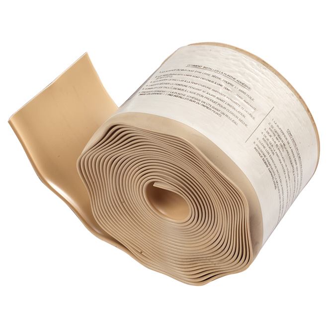 "Vinyl Cove Base - Self-Stick - 4"" x 20' - Beige"