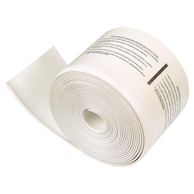 """Plinthe de vinyle autoadhésive, 4"""" x 20', blanc"""