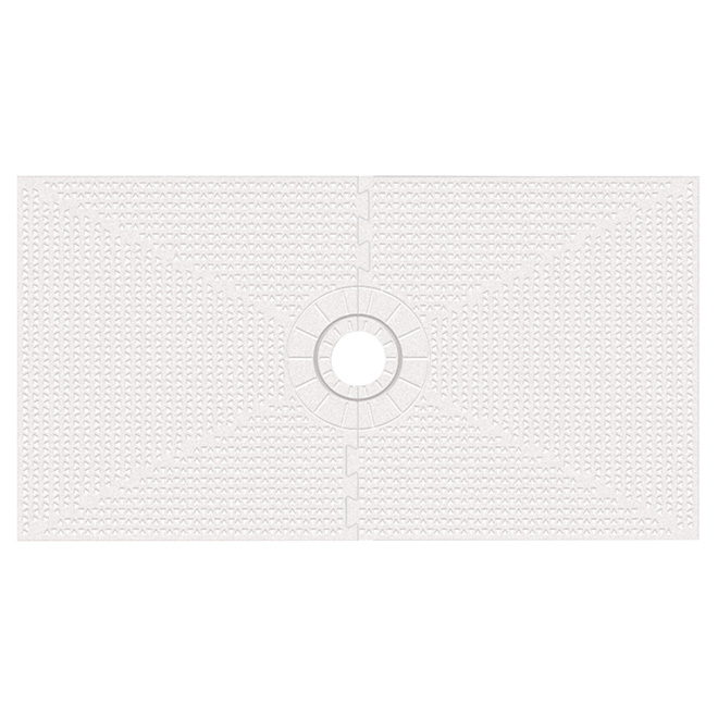 "Shower Drain and Liner - White - 32"" x 60"""