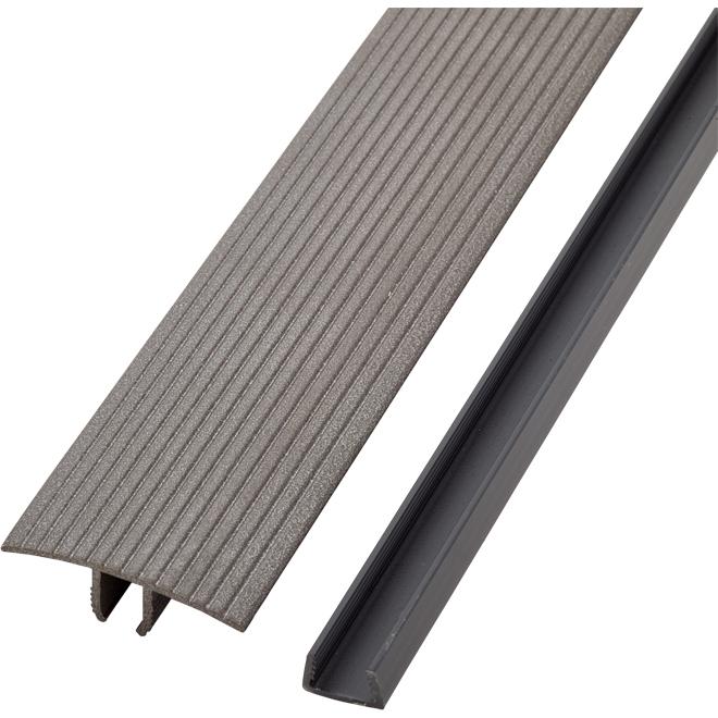 Self-Adhesive Aluminum T-Moulding - 36'' - Mocha