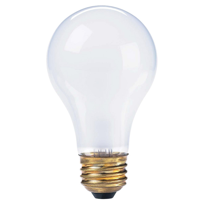 Heavy-Duty Dimmable Incandescent Bulb -A19 -E26 - 50W -Frosted