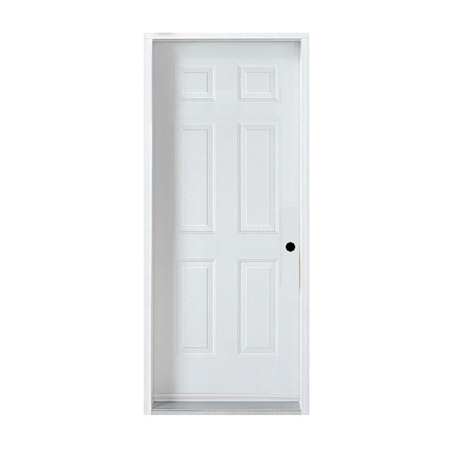 "Steel Door - 6 Panels - Right Opening - 32"" - White"