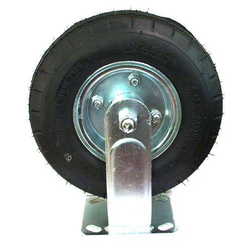 Roulette pneumatique fixe