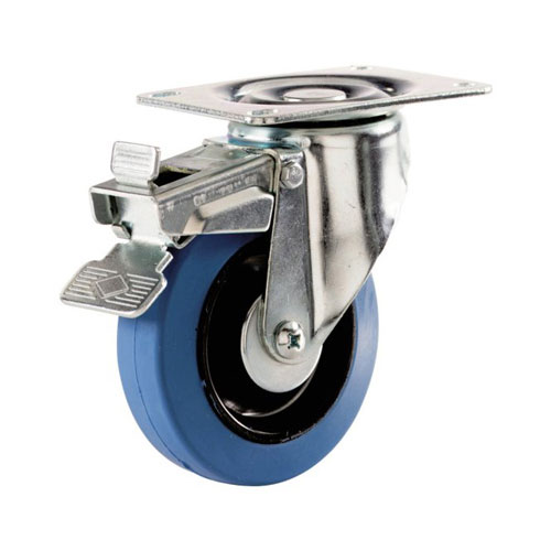 "Roulette pivotante avec frein en « Dyna-Tred », 5"""