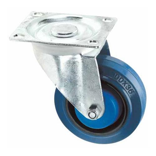 Roulette pivotante sans frein en « Dyna-Tred »