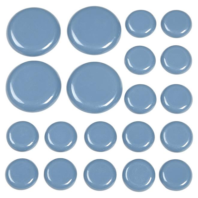 "Self-Adhesive Glides - Round - Grey - 1"" - 1 3/4"" - 20/Pk"