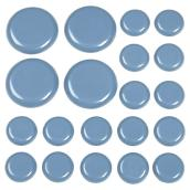 Self-Adhesive Glides - Round - Grey - 1