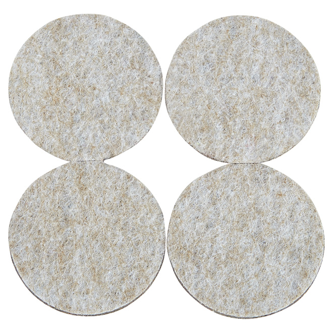 """Coussinets autoadhésifs Eco, ronds, beiges, 1 7/8"""", 4/pq"""
