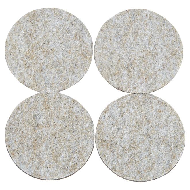 "Self-Adhesive Felt Pads - Eco - Round - Beige - 1 7/8"" -4/Pk"