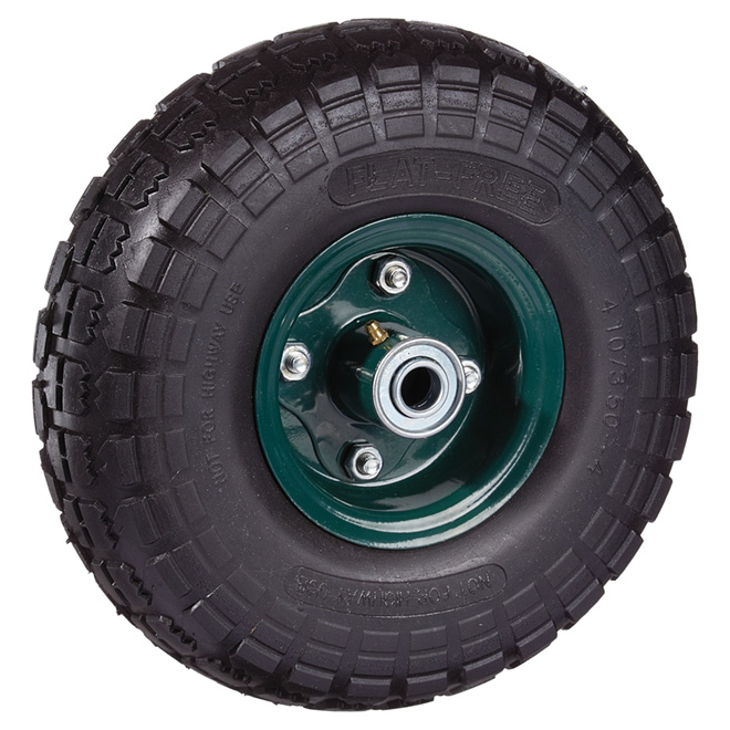 "Flat-Free Wheel - 265 lbs Capacity - 10"""