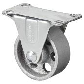 Sintered Iron Plate Rigid Caster - 126 lbs Capacity - 2