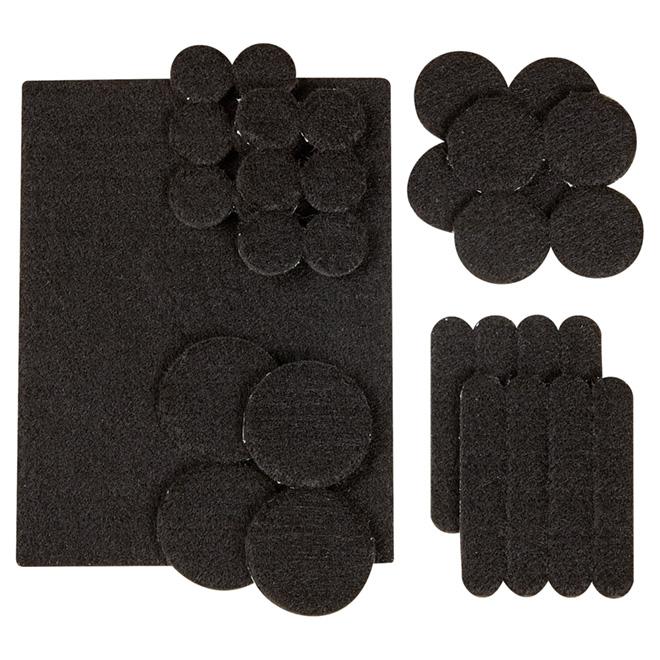 Coussinets autoadhésifs Eco assortis, noirs, 33/pq