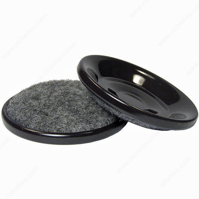 """Coupelles à base en tapis, coquille en métal, 2 1/2"""", 4/pq"""