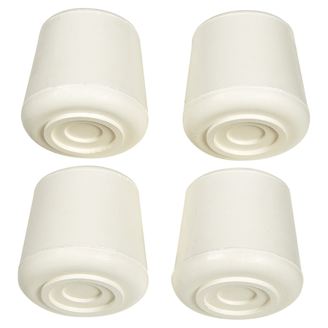 "Rubber Leg Tips - Round - White - 7/8"" - 4/Pk"