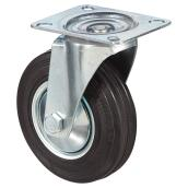 Euro Series Rubber Plate Swivel Caster - 220 lbs Cap. - 5