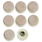 Patins à bague robustes avec feutre, ronds, 1