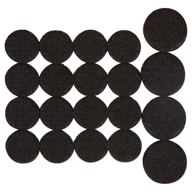 Self-Adhesive Felt Pad Multipack - Eco - Round -Black -20/Pk