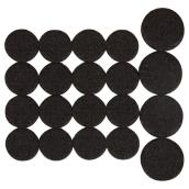 Coussinets autoadhésifs Eco assortis, ronds, noirs, 20/pq