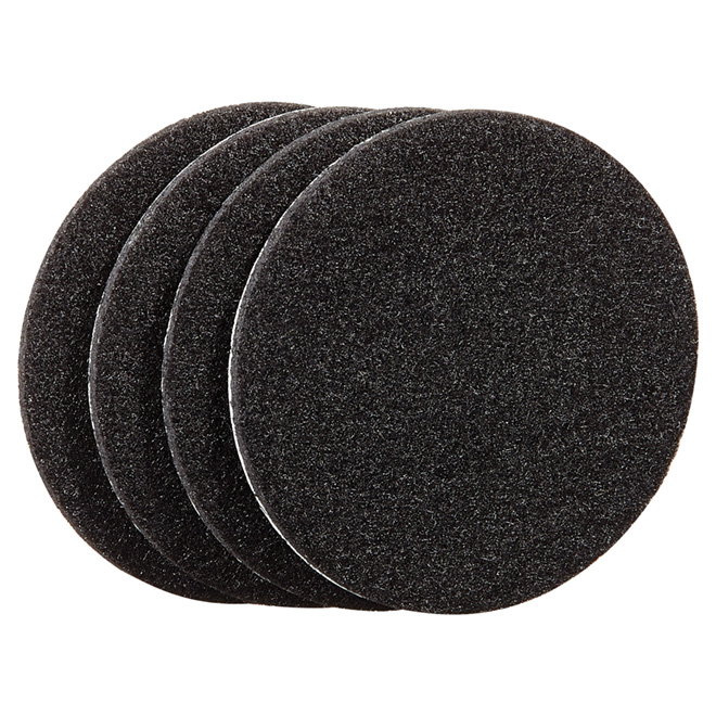 """Coussinets autoadhésifs Eco, ronds, noirs, 3"""", 4/pq"""
