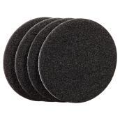 Coussinets autoadhésifs Eco, ronds, noirs, 3