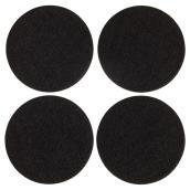 Coussinets autoadhésifs Eco, ronds, noirs, 4