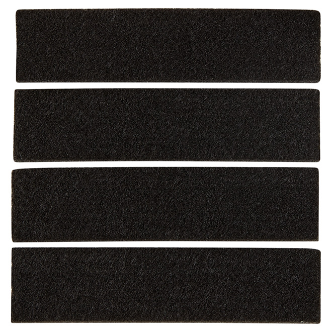 "Self-Adhesive Felt Pads - Eco - Strip - 1"" x 4"" - 4/Pk"