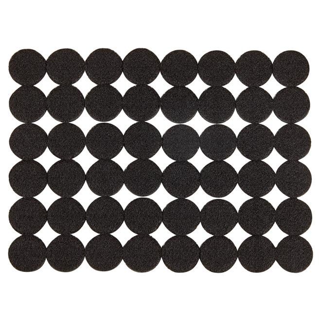 """Coussinets autoadhésifs Eco, ronds, noirs, 1 1/8"""", 48/pq"""