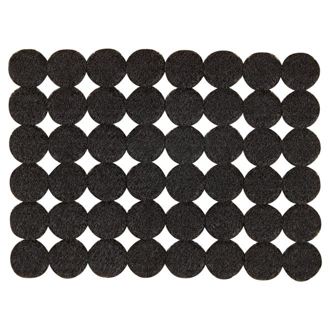"Self-Adhesive Felt Pads - Eco - Round - Black - 3/4"" - 48/Pk"
