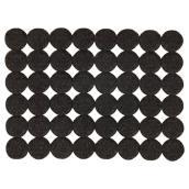 """Coussinets autoadhésifs Eco, ronds, noirs, 3/4"""", 48/pq"""