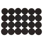 Self-Adhesive Felt Pads - Eco - Round - Black -1 1/2