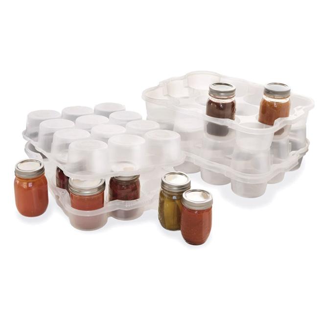 Système de rangement en plastique pour pots «Mason »