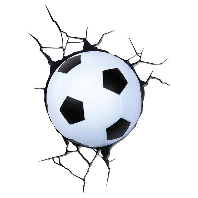 """""""Soccer Ball"""" 3D Wallmount Light"""