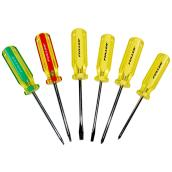 """Golden Grip"" 6-Piece Screwdriver Set"