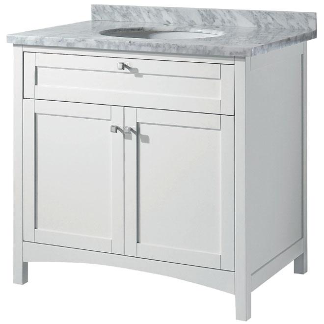Meuble-lavabo «Malaga», blanc mat