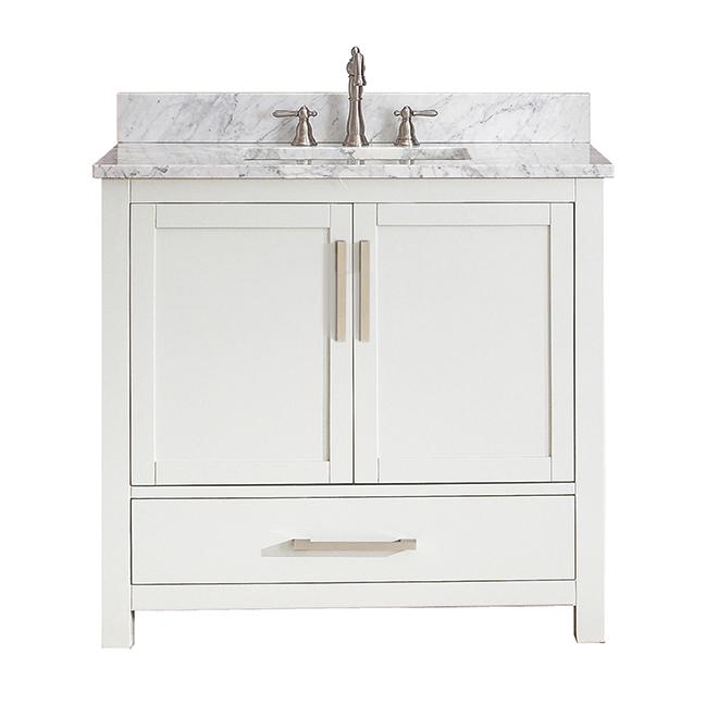 Vanity And Sink 2doors 1 Drawers 36 White Av17 36a Rona