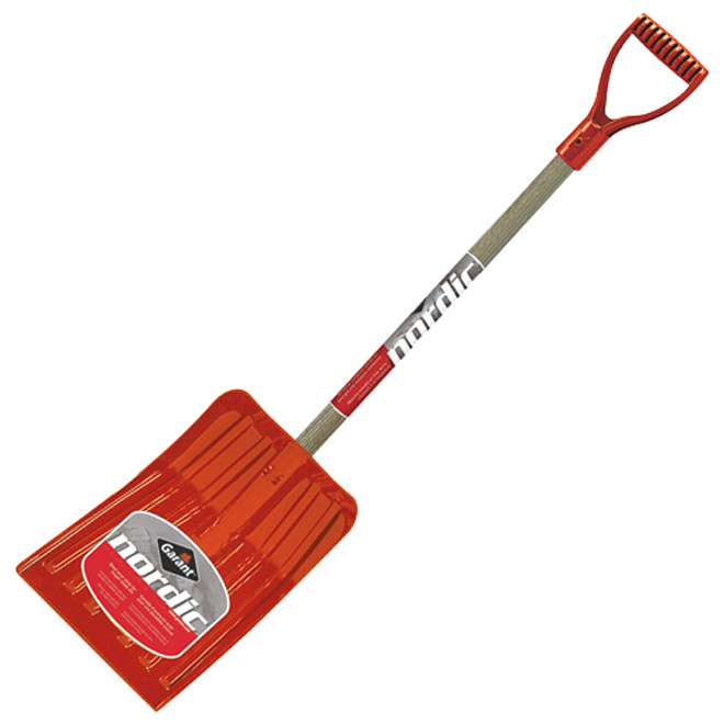 Garant Snow Shovel - Polycarbonate - 14.5'' x 53.5'' - Red