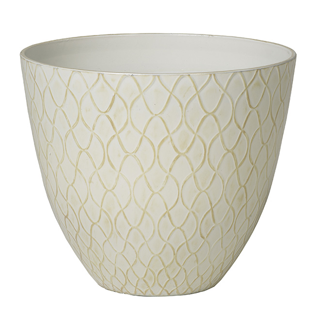 """Barnett"" Pot Cover - White"