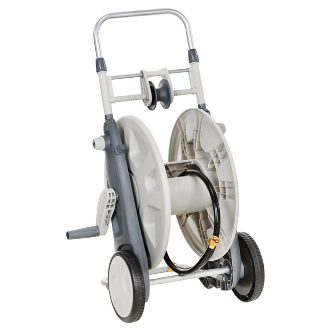 Chariot-dévidoir avec guide-boyau, poly, capacité de 225'