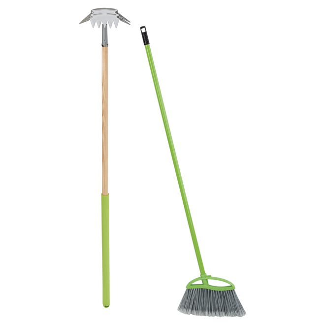 Garden Weeder and Outdoor Broom Tool