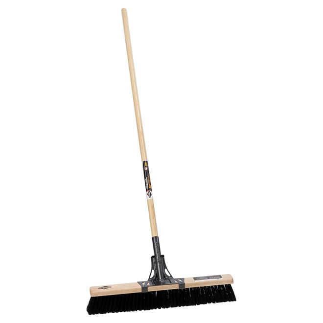 """Balai-brosse pour surfaces rugueuses, 24"""", manche en bois"""