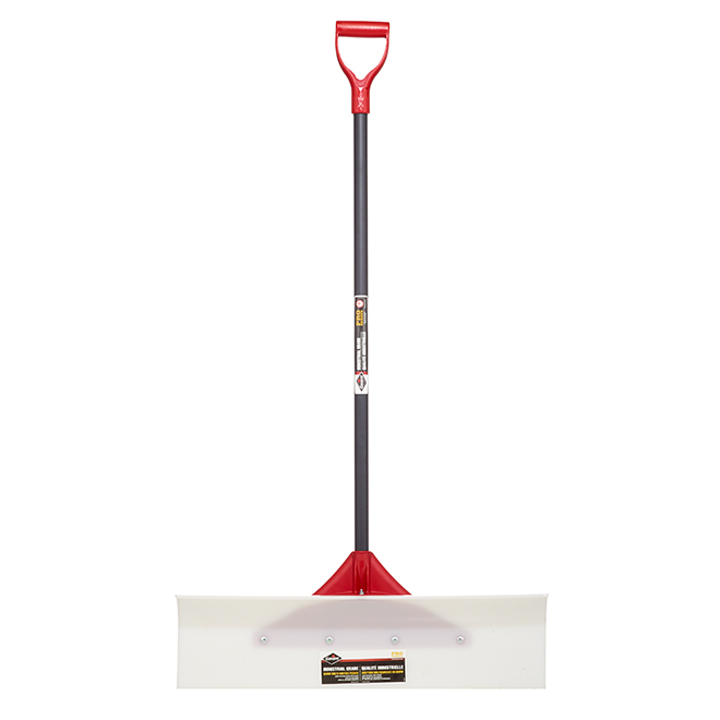 """Industrial Quality Snow Pusher - 30"""" - White/Red"""