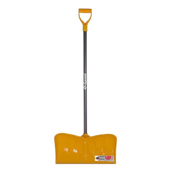 "Shovel - Snow Pusher - 22"" - Polypropylene - Yellow"