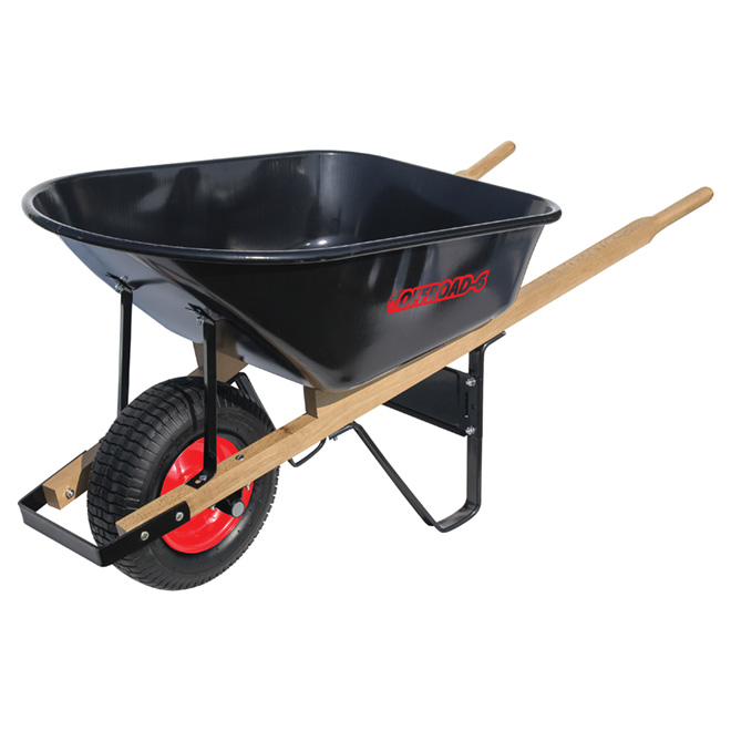 Off Road Contractor Wheelbarrow with Steel Tray - 6 cu. ft.