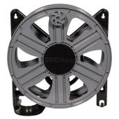 "Heavy-Duty Hose Reel - Wall-Mount - 100' x 5/8"" - Black/Grey"