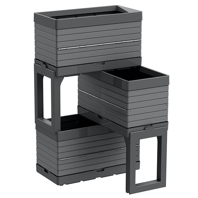 3-Container Modular Garden - Grey