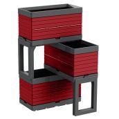 3-Container Modular Garden - Red