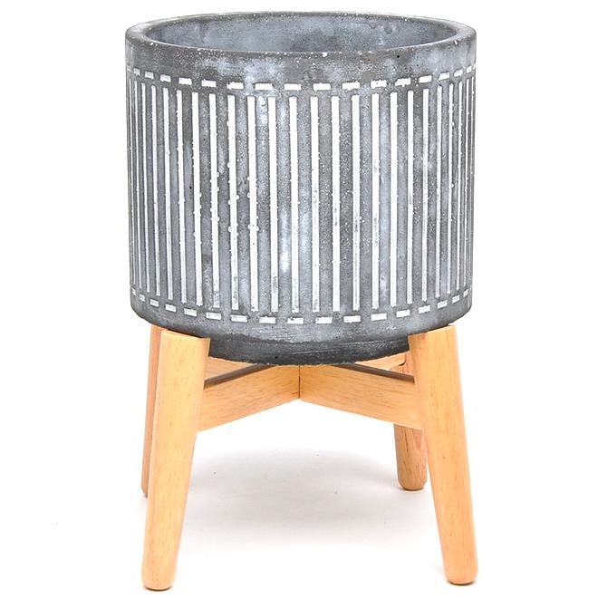 "Pot en ciment, Kayla, 7"", pierre"