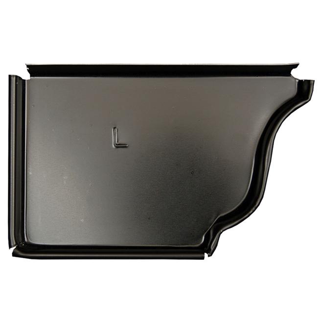 """K-Style Aluminum Left End Cap - 5"""" - Black"""